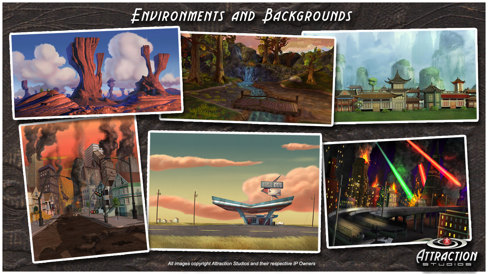 Environments and Backgrounds  16x9